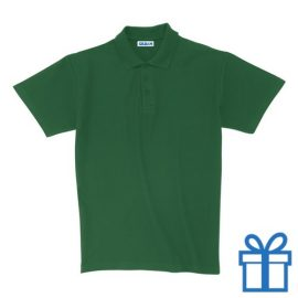 Polo unisex houtlook XL groen bedrukken