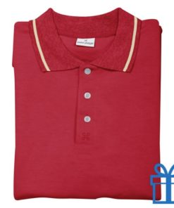 Poloshirt andré philippe S rood bedrukken