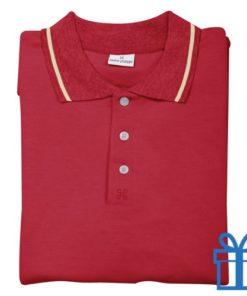 Poloshirt andré philippe XS rood bedrukken
