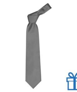 Polyester stropdasplastic hanger antraciet bedrukken