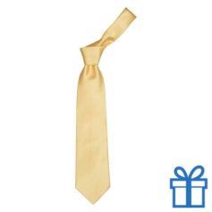 Polyester stropdasplastic hanger geel bedrukken
