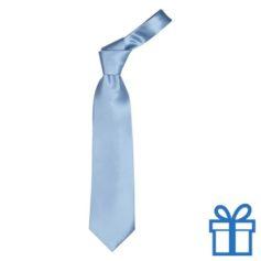 Polyester stropdasplastic hanger lichtblauw bedrukken