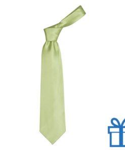 Polyester stropdasplastic hanger lichtgroen bedrukken