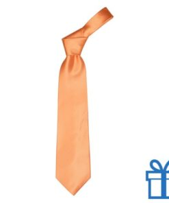 Polyester stropdasplastic hanger oranje bedrukken