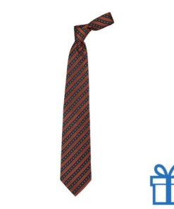 Polyester stropdaspolybag line oranje bedrukken