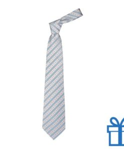 Polyester stropdaspolybag line wit bedrukken