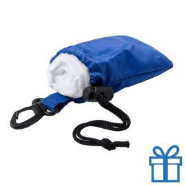 Poncho transparant pouch blauw bedrukken