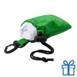 Poncho transparant pouch groen bedrukken