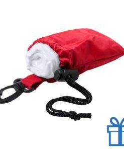 Poncho transparant pouch rood bedrukken
