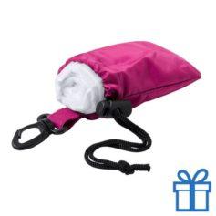 Poncho transparant pouch roze bedrukken