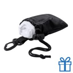 Poncho transparant pouch zwart bedrukken