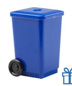 Puntenslijper container blauw