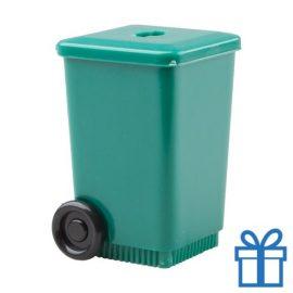 Puntenslijper container groen
