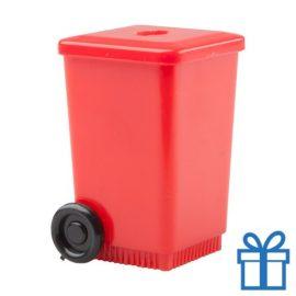 Puntenslijper container rood