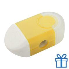 Puntenslijper gum in 1 geel