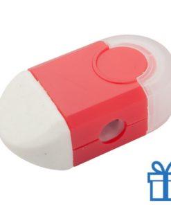 Puntenslijper gum in 1 rood
