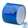 Reflecterende armband blauw bedrukken