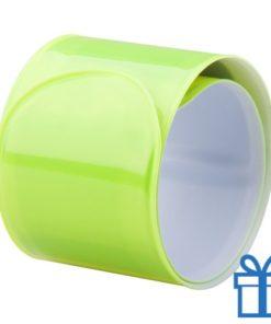 Reflecterende armband geel bedrukken