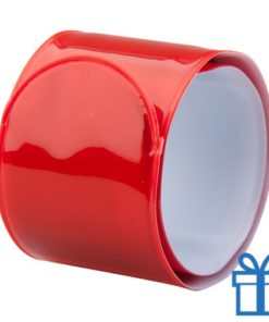 Reflecterende armband rood bedrukken