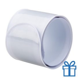 Reflecterende armband wit bedrukken