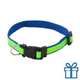 Reflecterende halsband hond blauw bedrukken