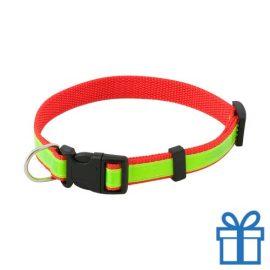 Reflecterende halsband hond rood bedrukken