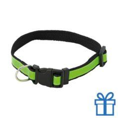 Reflecterende halsband hond zwart bedrukken