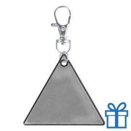 Reflecterende sleutelhanger zilver bedrukken