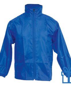 Regenjack XL-XXL blauw bedrukken