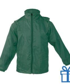 Regenjack XL-XXL groen bedrukken
