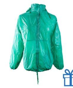 Regenjas opvouwbaar M-L groen bedrukken