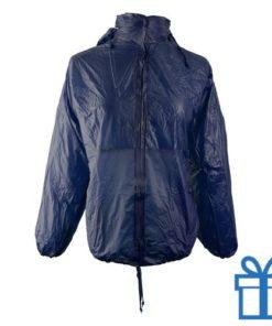 Regenjas opvouwbaar M-L navy bedrukken