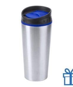 Reisbeker thermo 540ml blauw bedrukken