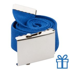 Riem polyester 110cm metaal gesp blauw bedrukken