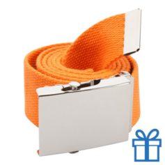 Riem polyester 110cm metaal gesp oranje bedrukken