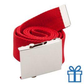 Riem polyester 110cm metaal gesp rood bedrukken