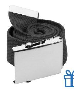 Riem polyester 110cm metaal gesp zwart bedrukken