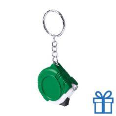 Rolmaat plastic sleutelhanger groen bedrukken