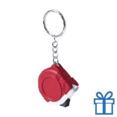 Rolmaat plastic sleutelhanger rood bedrukken