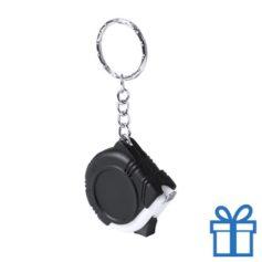 Rolmaat plastic sleutelhanger zwart bedrukken