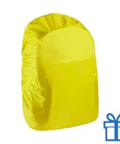 Rugtas wachterdichte hoes geel bedrukken