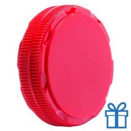 Schoenensmeer opvouwbaar rood bedrukken