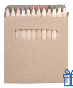 Setje 12 kleurpotloden geschenkdoos bedrukken