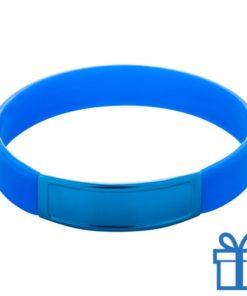 Siliconen armband kleur blauw bedrukken