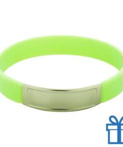 Siliconen armband kleur groen bedrukken