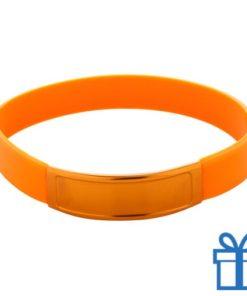 Siliconen armband kleur oranje bedrukken