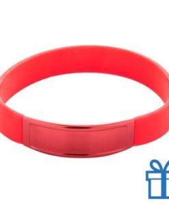 Siliconen armband kleur rood bedrukken