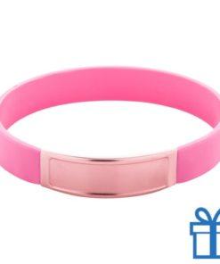 Siliconen armband kleur roze bedrukken
