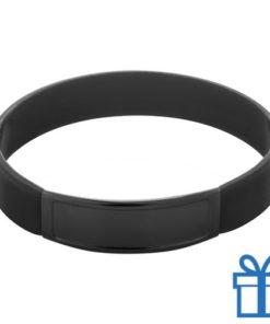 Siliconen armband kleur zwart bedrukken