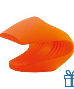 Siliconen ovenwant oranje bedrukken